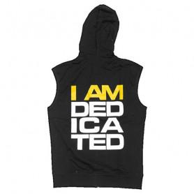 "Dedicated sleeveless Hoodie ""I am Dedicated"""