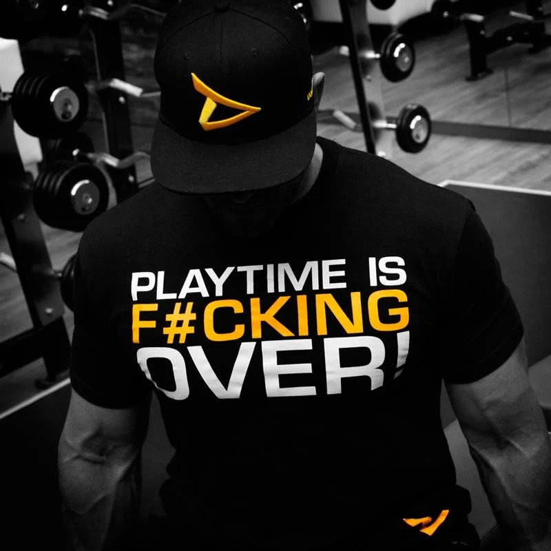 Dedicated T-shirt 'Playtime is Over'