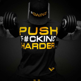 "Dedicated T-SHIRT ""PUSH HARDER"""