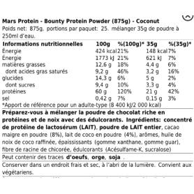 Bounty Protein Power - 875g - Mars