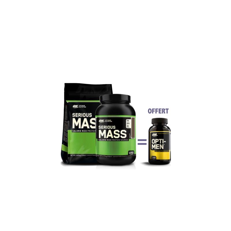 Serious Mass   Opti-men offert Optimum Nutrition