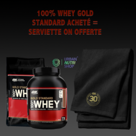 100% Whey Gold Standard acheté  1 Serviette Sport ON offerte