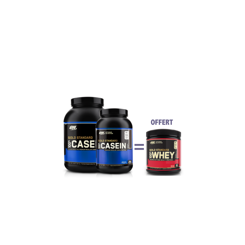100% Casein Gold Standard  100% Whey gold standard offert