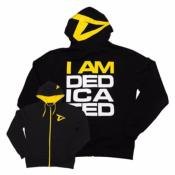 "DEDICATED TRACKSUIT HOODIE ""I AM DEDICATED""-Noir - Jaune-M"