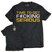 T-Shirt Time To Get Serious Dedicated Nutrition, Couleur Noir, Taille XXL