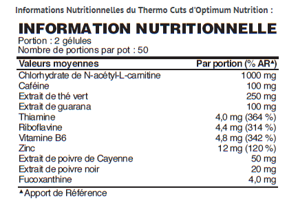 ON Thermo-Cuts Val Nutri