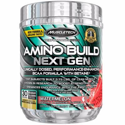 Amino Build NEXT GEN-Ice Rocket Freeze-Pot de 278g, Saveurs Ice Rocket Freeze, Format Pot de 278g