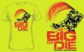 T-shirt Get Big or Die -Jaune n_on-M, Taille M, Couleur Jaune néon